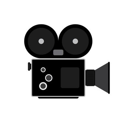 The video camera icon. Camcorder symbol. Flat Vector illustration Illustration