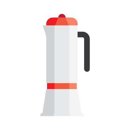 minimalist style: Coffee makers icon in minimalist style. Flat coffee icons. Vector illustration Illustration