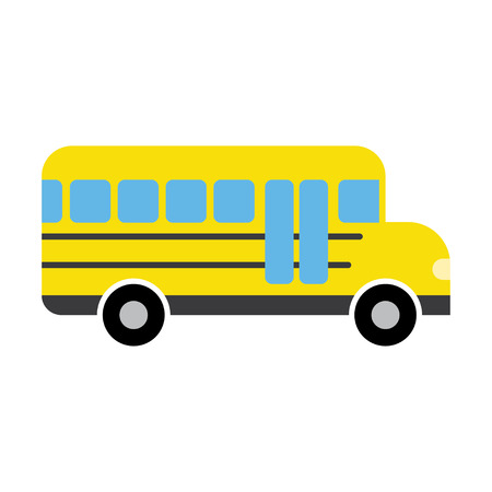yellow schoolbus: School Bus, modern flat icon on a white background Illustration