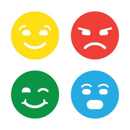 Feedback vector concept. Rank, level of satisfaction rating. Feedback in form of emotions, smileys, emoji. User experience. Customer feedback. Review of consumer. Feedback flat icon. Illustration
