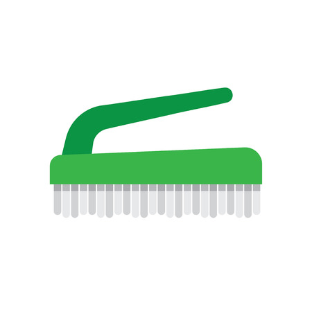 house work: Cleaning hand brushe hygiene tool and cleaning brush hand washing house symbols. Vector cleaning brush icon flat modern design house work equipment illustration.