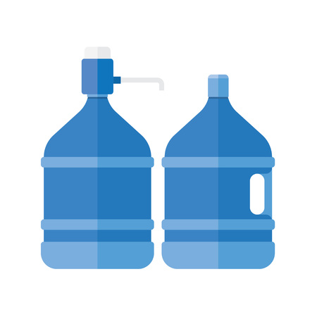 water cooler: Water cooler. Refreshment and bottle office, plastic and liquid. Vector illustration Illustration