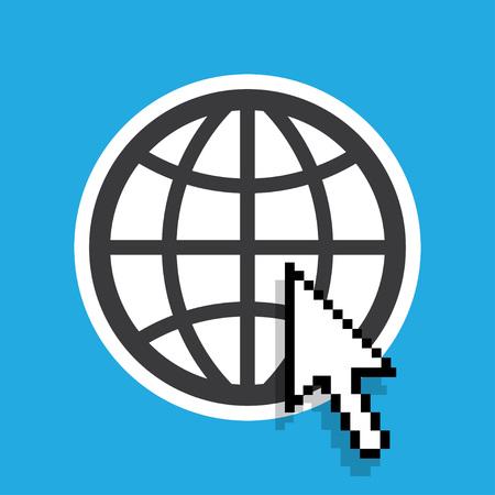 website wide window world write www: Go to web Icon, go to web icon flat, go to web icon picture Illustration