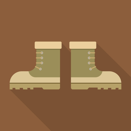 military boots: combat military boots leather combat soldier footwear vector illustration. Leather military boots and army uniform military boots. Soldier footwear military boots clothing uniform. Illustration