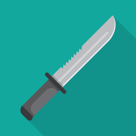 squad: Army Military knife. Special squad soldier weapons. Vector illustration