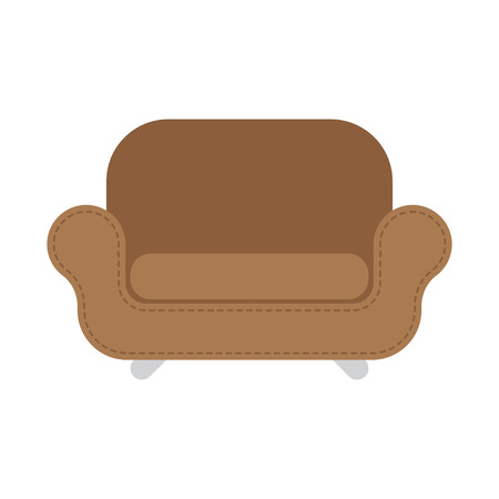 leather armchair: Brown Leather armchair over the white. Vector illustration Illustration
