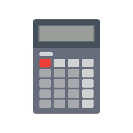 Calculadora icono de la calculadora plana ilustración. calculadora electrónica del vector.