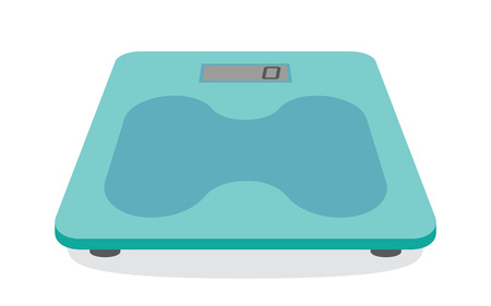 analog weight scale: Bathroom weight scale on white background. Vector Illustration Illustration