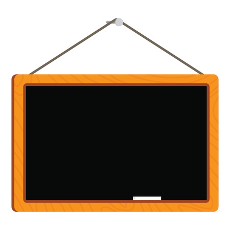 antique sleigh: blank chalkboard in wooden frame isolated over white background Illustration