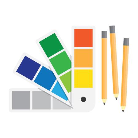 color swatch book: Color swatches book. Color palette guide. Flat vector illustration. Illustration