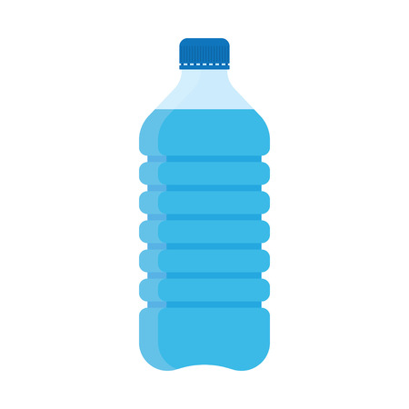 Flat Style Vector Illustration of bottle of water