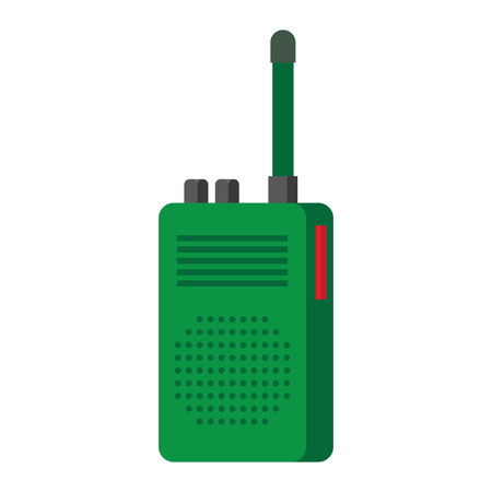 Radio transceivers. illustration isolated on white background Illustration