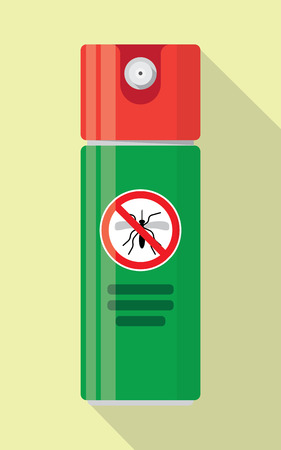 Repellent spray insect. Mosquito silhouette. Mosquito repellent. Isolated repellent bottle. Self defense. Mosquito spray icon flat.Mosquito spray can vector.Mosquito spray bottle icon. Repellent spray Stock Vector - 60194985