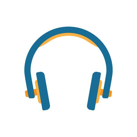 Headphones in flat style. Vector Illustration Isolated on White Background Illustration