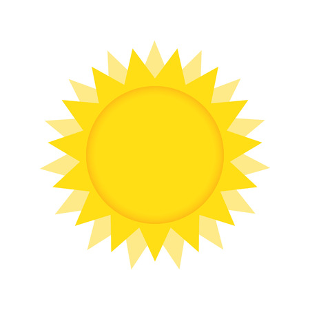sun burst: Yellow Sun burst icon isolated on background. Modern simple flat sunlight, sign Illustration