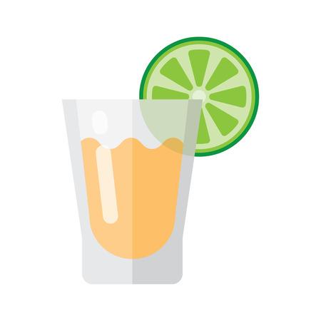 Illustrazione vettoriale tequila e calce icona sullo sfondo bianco