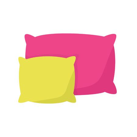 cuscino colorato, illustrazione vettoriale cuscino su uno sfondo bianco. Vettoriali