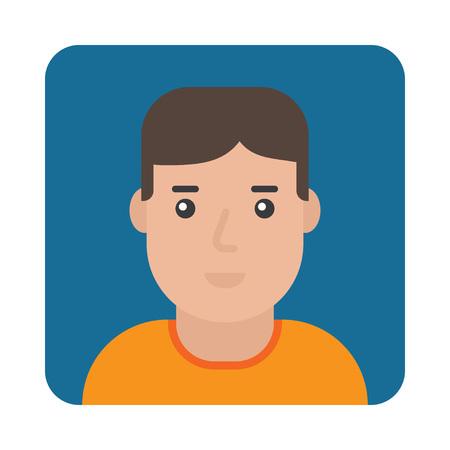 Profielpictogram Man Portret Man Flat Design Vector Illustration Vector Illustratie