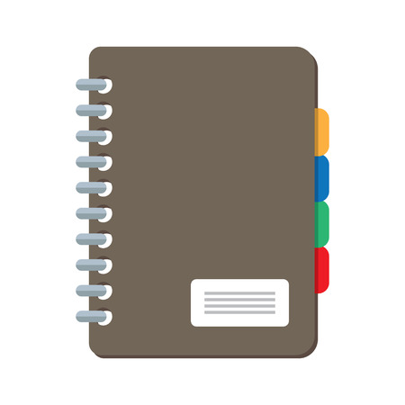 planners: Planners notebook organizer diary paper note page business vector Illustration