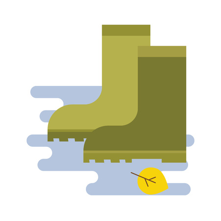 rubber boots icon in flat style isolated on white background. vector illustration