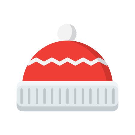 beanie: illustration of isolated winter hat on white background Illustration