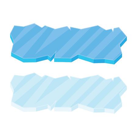 floe: Ice floe icon, symbol, vector illustration isolated on white background.