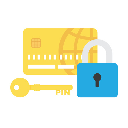 safe payment: Credit Card Security icon vector, safe payment concept isolated on white, pixel perfect illustration Illustration