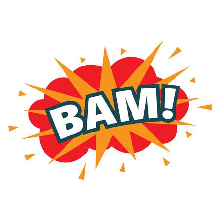 BAM. wording sound effect set. Comic speech bubble cartoon,vector illustration