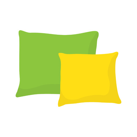 colored pillow, cushion vector illustration on a white background. Illustration