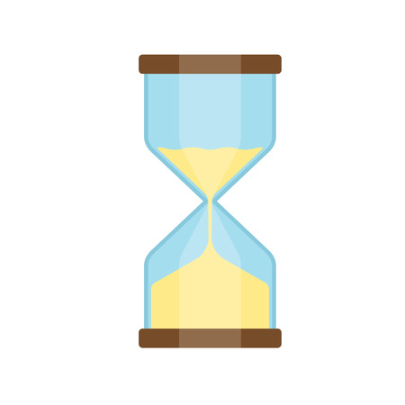 trickle: hourglass isolated on white background. Simple sand-glass timer. Sand clock icon vector illustration Illustration
