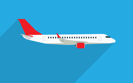 airlines: Aircraft vector flat illustrations. Modern airplane. Emblem for airlines banners.