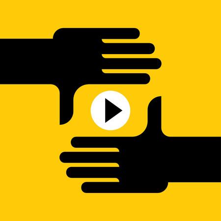 video marketing, Film industry, internet online stream video. vector illustration