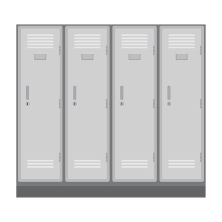 changing room: School or changing room lockers. Illustration