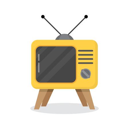 Retro TV on a white background. vector illustration
