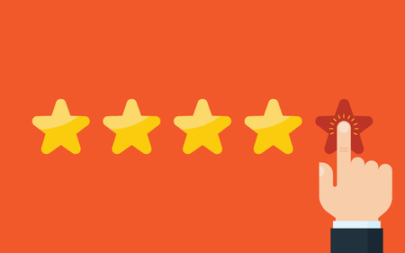 Customer reviews, rating, classification concept Vector Illustration  イラスト・ベクター素材