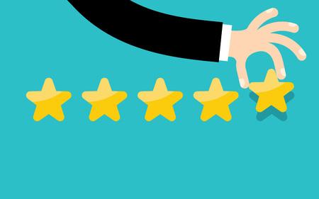 Customer reviews, rating, classification concept Vector Illustration 일러스트