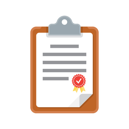 clipboard document, icon. vector illustration isolated white background