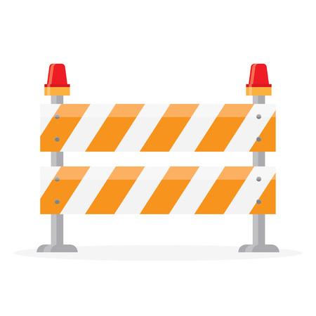 barricade: road barrier, barricade Illustration