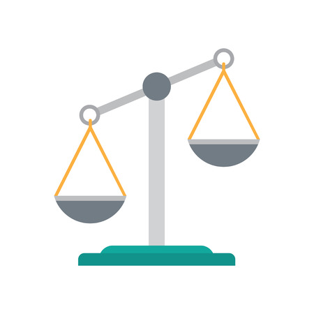 justice scale: Scales of justice icon. Empty scales. Law balance symbol. vector illustration. Illustration