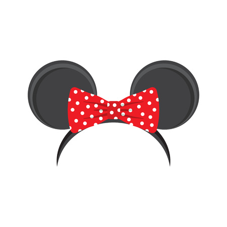mouse ears headband for carnival, vector illustration on a white background