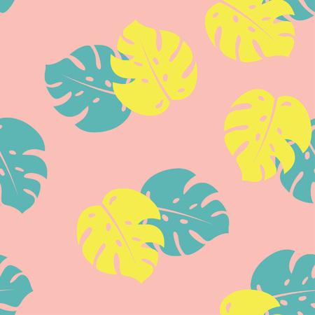 Monstera Seamless Pattern. Tropical, exotic pattern Vector illustration Illustration