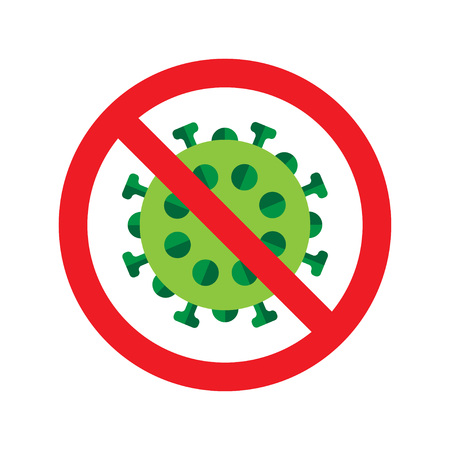 influenza: Virus or bacteria icon. Vector illustration on isolated on white background