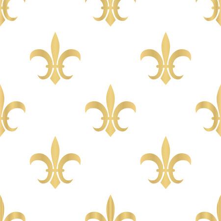 Royal pattern. Seamless golden pattern with Fleur de Lis. Vector illustration. Stock Vector - 82732239