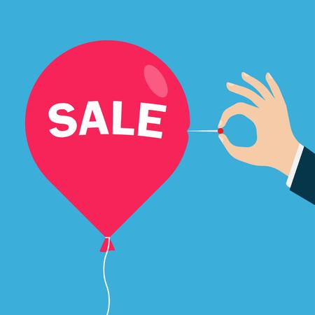 deflated: Sale promotion design.