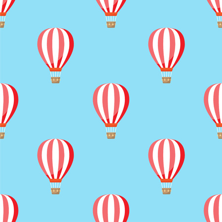 air balloon with clouds pattern. Seamless pattern. Vector illustration Illustration