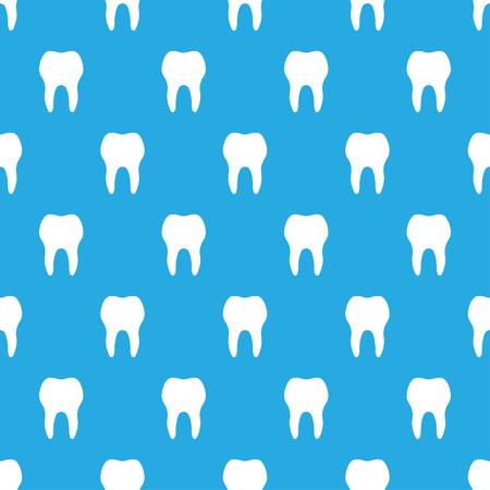 seamless pattern, white teeth on blue background. Vector illustration