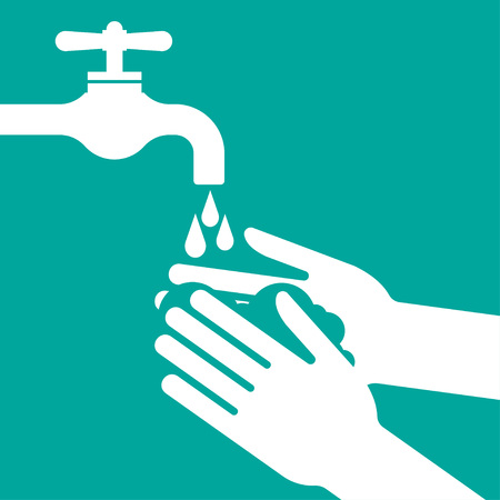 Please wash your hands illustration. Illustration