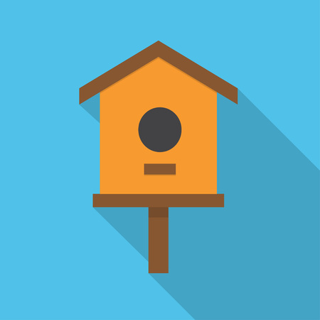 comfortable nesting box Illustration