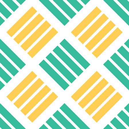 Seamless geometric pattern with striped lines. Decorative element, geometric pattern in op art style. Vector Illustration Ilustração