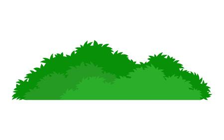 Groen gestileerd struikpictogram, op witte achtergrond, vectorillustratie.